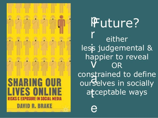 p  r  i  v  a  t  e  Future?  either  less judgemental &  happier to reveal  OR  constrained to define  ourselves in socia...