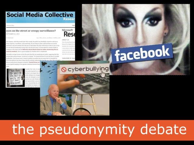 the pseudonymity debate