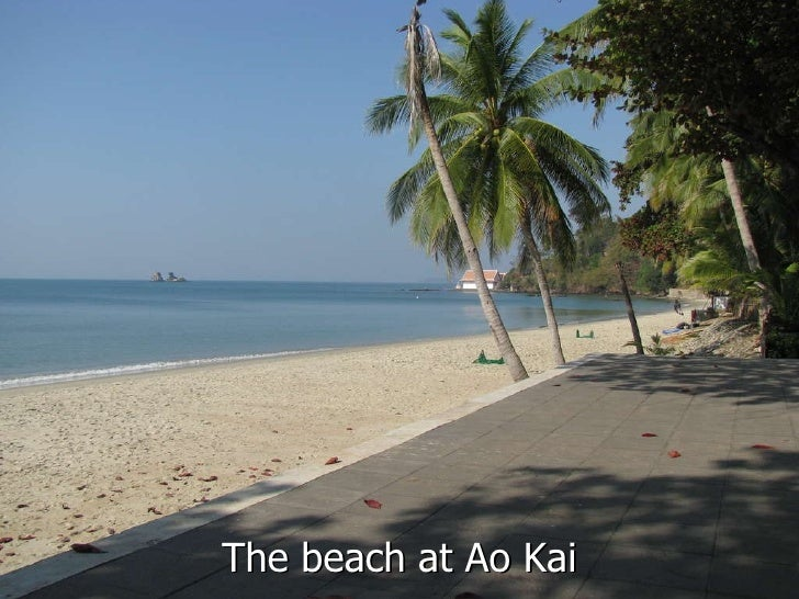 The beach at Ao Kai