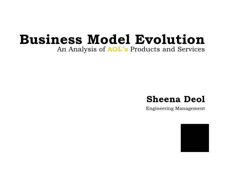 Business Model Evolution Sheena Deol Engineering Management An Analysis of  AOL's  Products and Services