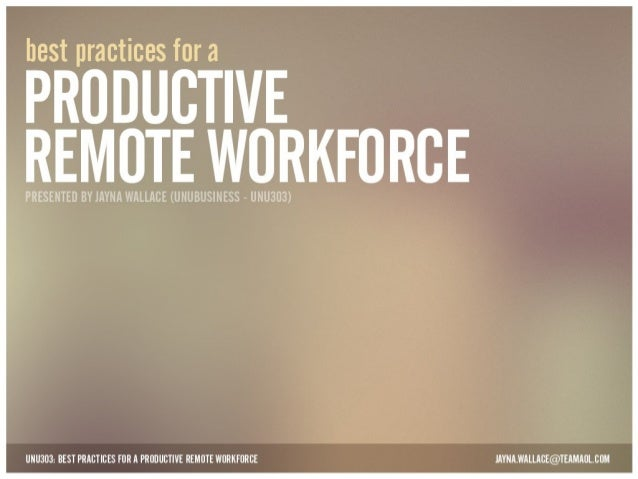 AOLU: Best Practices for a Productive Remote Workforce