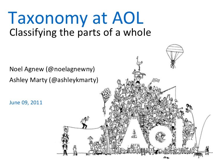 Taxonomy at AOL<br />Classifying the parts of a whole<br />Noel Agnew (@noelagnewny)<br />Ashley Marty (@ashleykmarty)<br ...