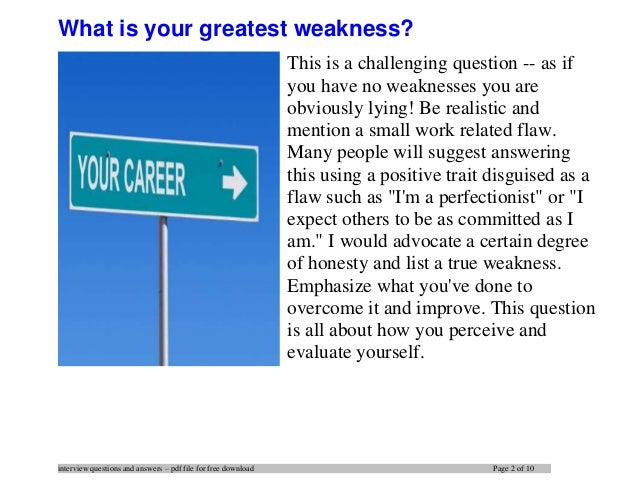 ... 2. Interview Questions ...