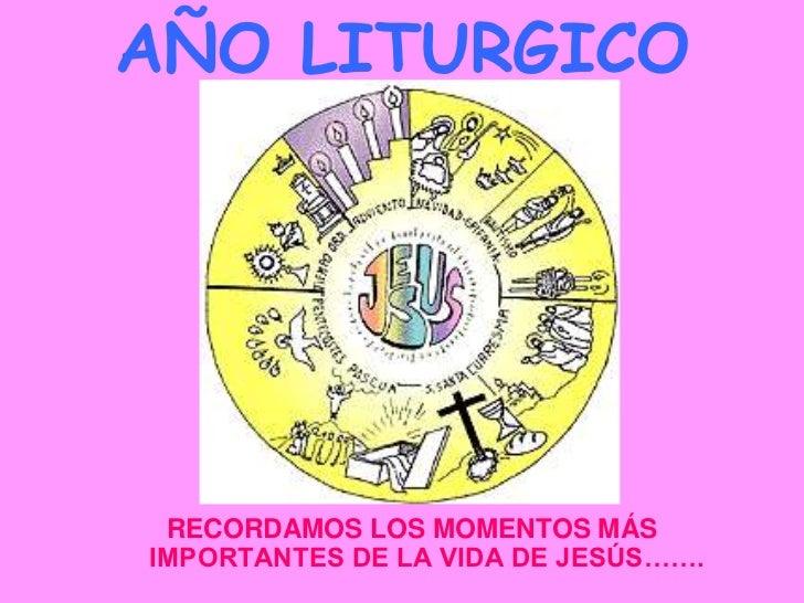 AÑO LITURGICO RECORDAMOS LOS MOMENTOS MÁSIMPORTANTES DE LA VIDA DE JESÚS…….