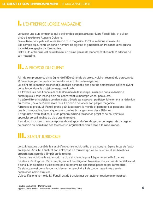 Reponse A Un Appel D Offre Pour La Strategie Digitale D Un Magazine M