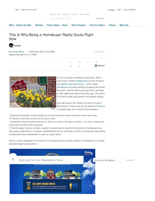 This Is Why Being a Homebuyer Really Sucks RightNow2 CommentsBy Graham Wood | Posted May 29th 2013 3:30PMUpdated May 30th ...