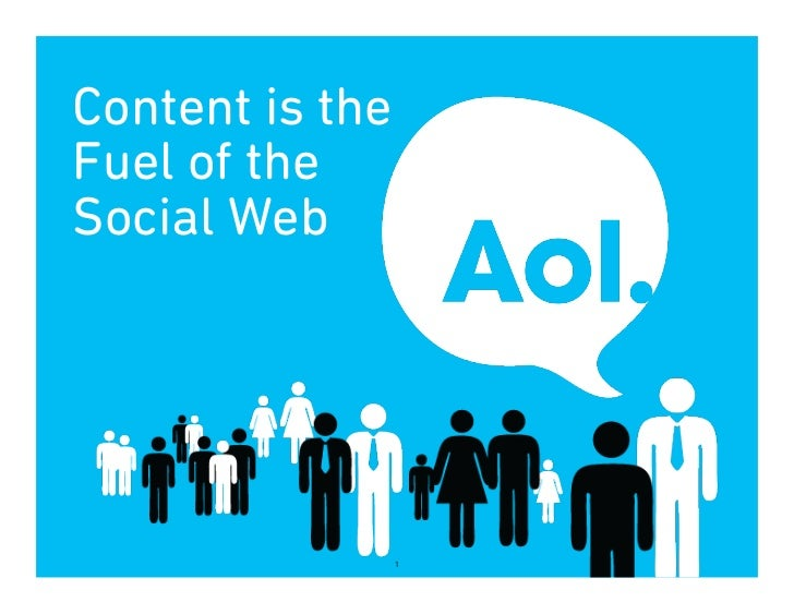 Content is theFuel of theSocial Web                 1