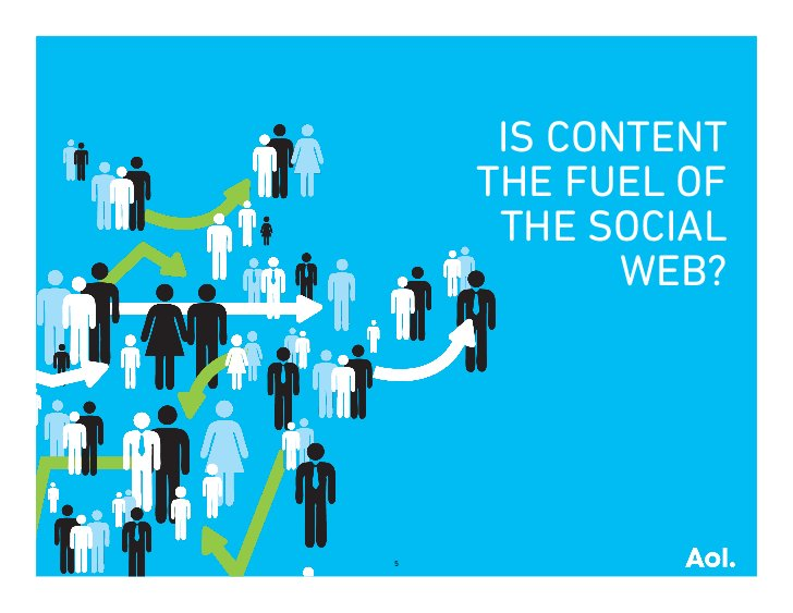 IS CONTENT    THE FUEL OF     THE SOCIAL           WEB?5