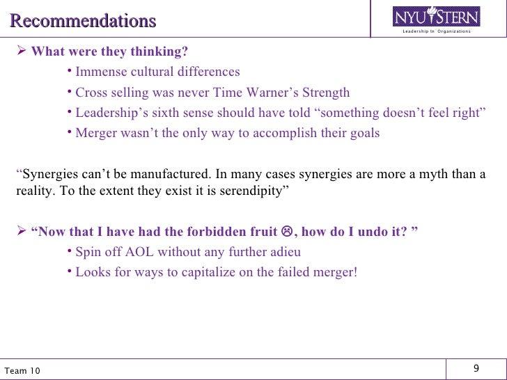 Recommendations <ul><li>What were they thinking?  </li></ul><ul><ul><ul><li>Immense cultural differences </li></ul></ul></...