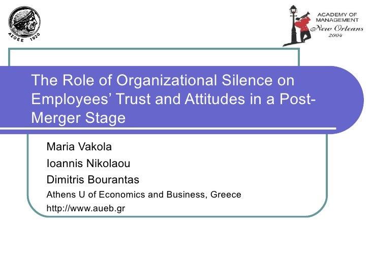 Organizational silence