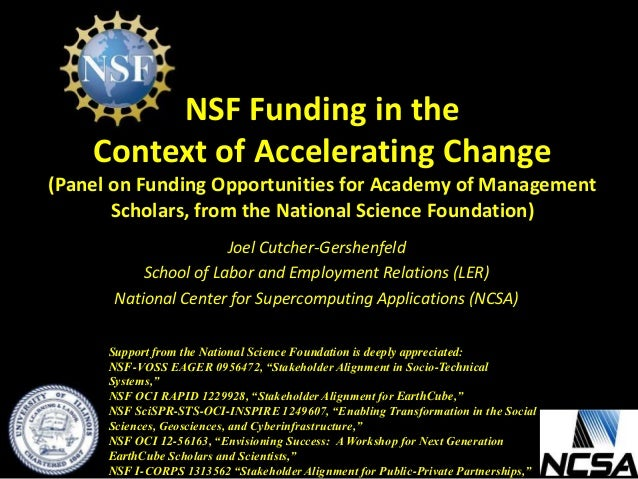 How to Get NSF to Fund Your Social Science Research Robert E  O
