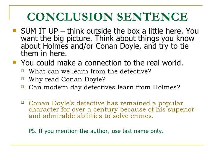 Sherlock Holmes Essays (Examples)