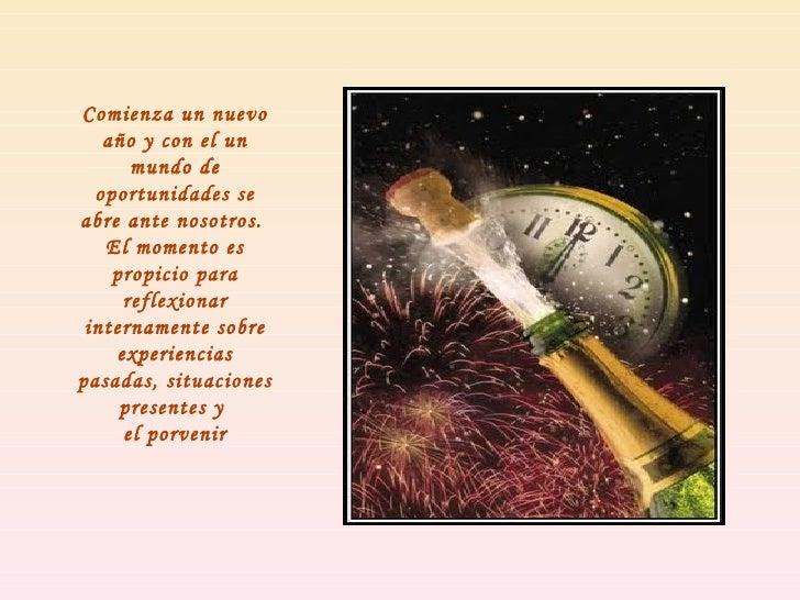 Comienza un nuevo año y con el un mundo de oportunidades se abre ante nosotros.  El momento es propicio para reflexionar i...