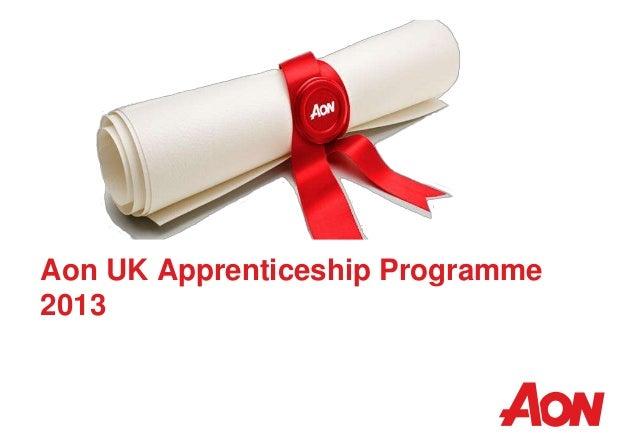 Aon UK Apprenticeship Programme 2013