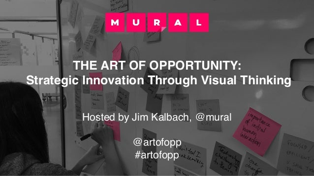 THE ART OF OPPORTUNITY: Strategic Innovation Through Visual Thinking Hosted by Jim Kalbach, @mural @artofopp #artofopp