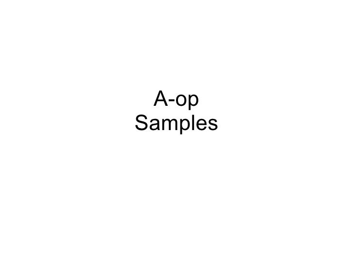 A-op Samples
