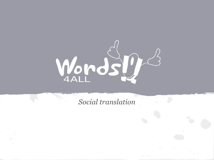 Social translation