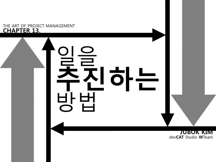 THE ART OF PROJECT MANAGEMENTCHAPTER 13.                     일을                     추진하는                     방법           ...