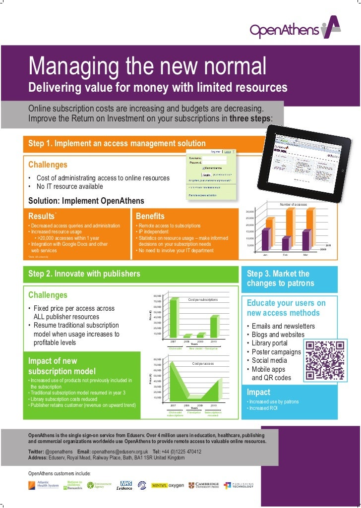 Managing the new normalDelivering value for money with limited resourcesOnline subscription costs are increasing and budge...
