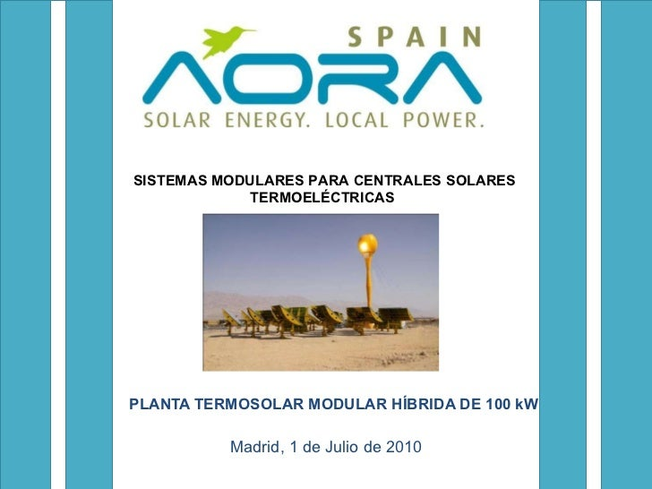 Sistemas modulares para centrales solares eléctricas