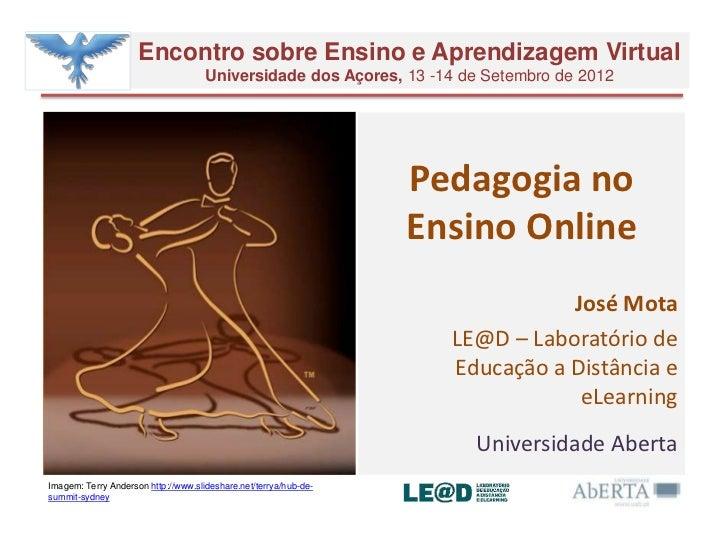 Encontro sobre Ensino e Aprendizagem Virtual                                     Universidade dos Açores, 13 -14 de Setemb...