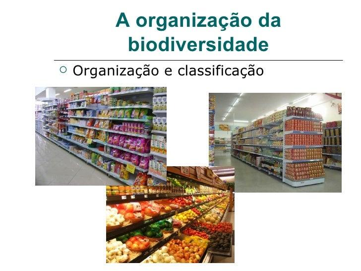 A organização da           biodiversidade   Organização e classificação