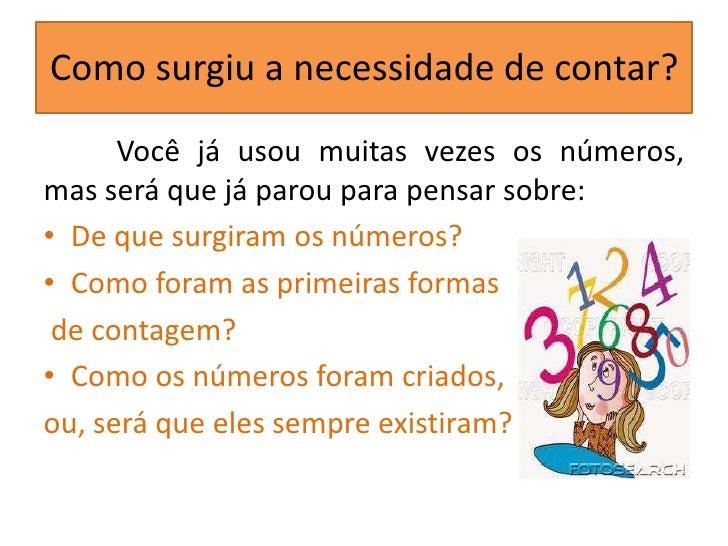 A origem dos números Slide 2
