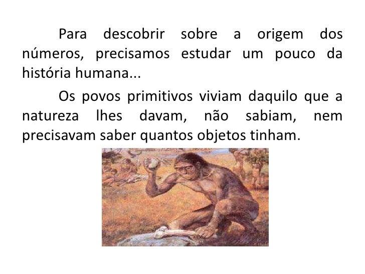 A origem dos números Slide 3