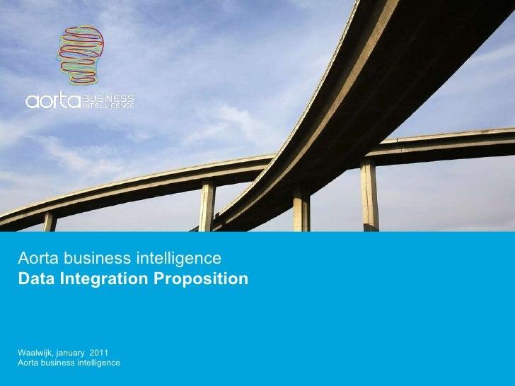 Aorta business intelligence Data Integration Proposition  Waalwijk, january  2011 Aorta business intelligence