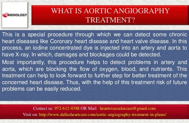 Aortic angiography treatment in plano Slide 2