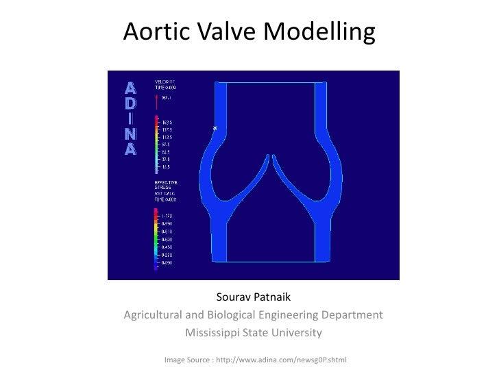 Aortic Valve Modelling<br />Sourav Patnaik<br />Agricultural and Biological Engineering Department<br />Mississippi State ...