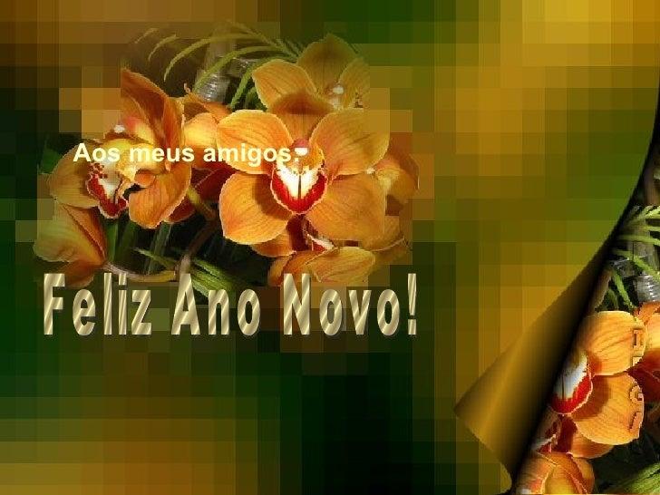 Aos meus amigos: Feliz Ano Novo!