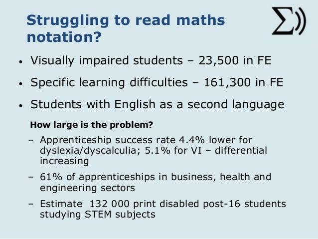 STEMReader Project: Technology to support Maths Notation reading & un…