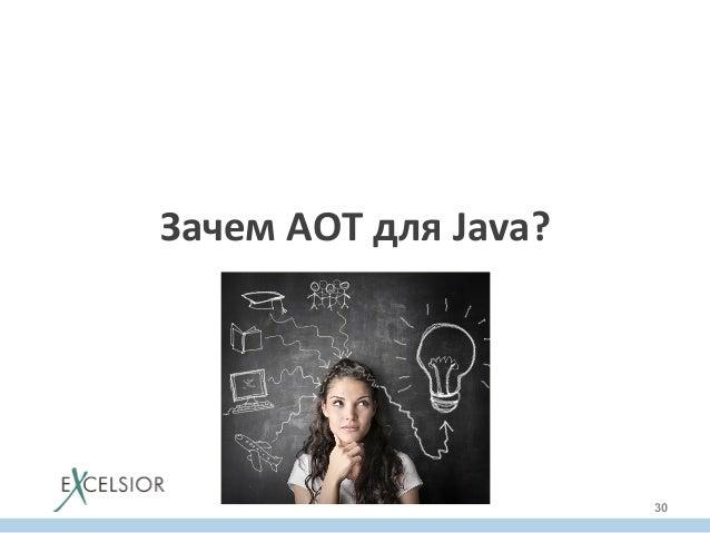 Зачем  AOT  для  Java?   30