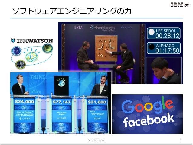 ソフトウェアエンジニアリングの⼒ © IBM Japan 6
