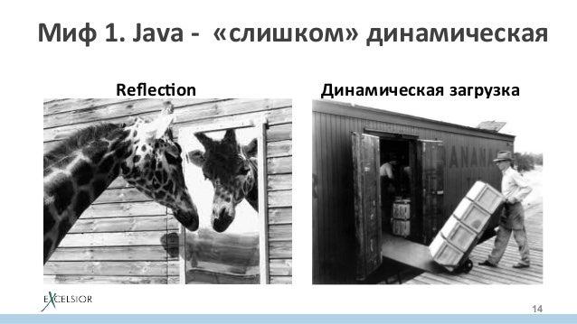 Миф1.Java-«слишком»динамическая ReflecIon     Динамическаязагрузка 14