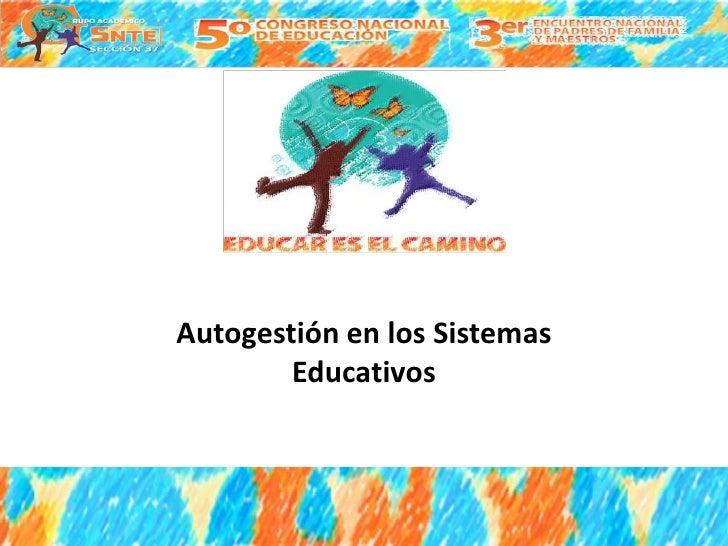 Autogestión en los Sistemas        Educativos