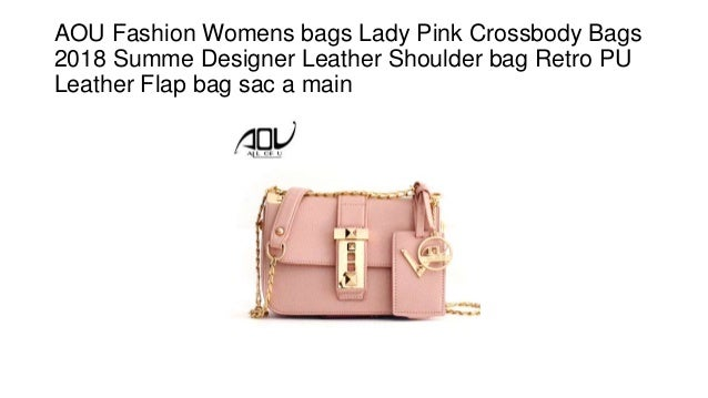 8ef30803aa28f AOU Fashion Womens bags Lady Pink Crossbody Bags 2018 Summe Designer Leather  Shoulder bag Retro PU ...