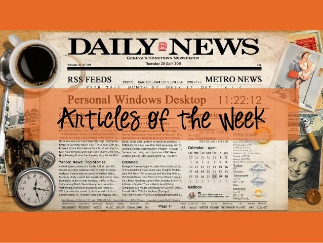 Articles of the Week