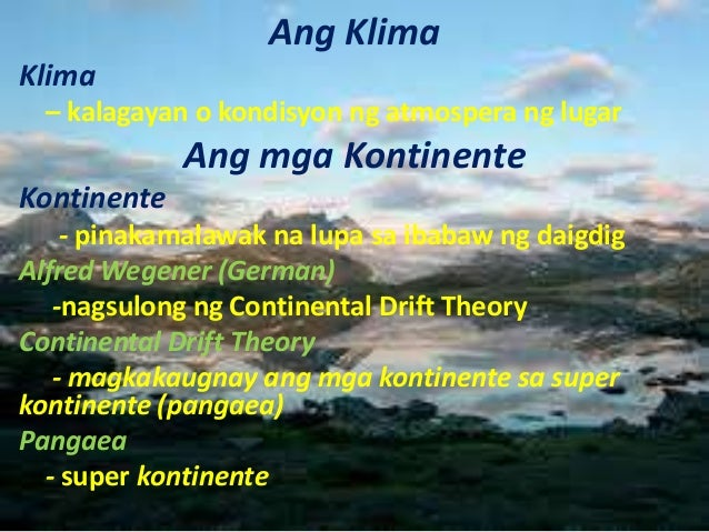 drift theory of the philippines