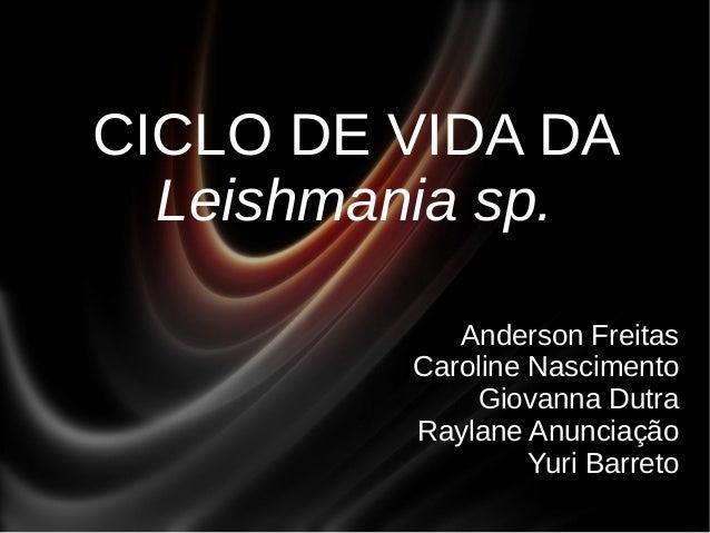 CICLO DE VIDA DA Leishmania sp. Anderson Freitas Caroline Nascimento Giovanna Dutra Raylane Anunciação Yuri Barreto