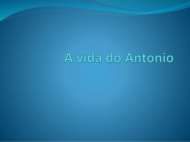 Quem sou eu? Eu sou o António.