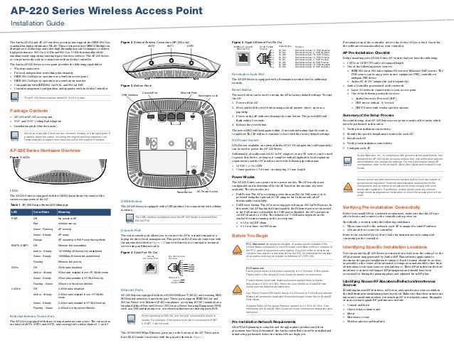 Aruba AP 22X Installation Guide