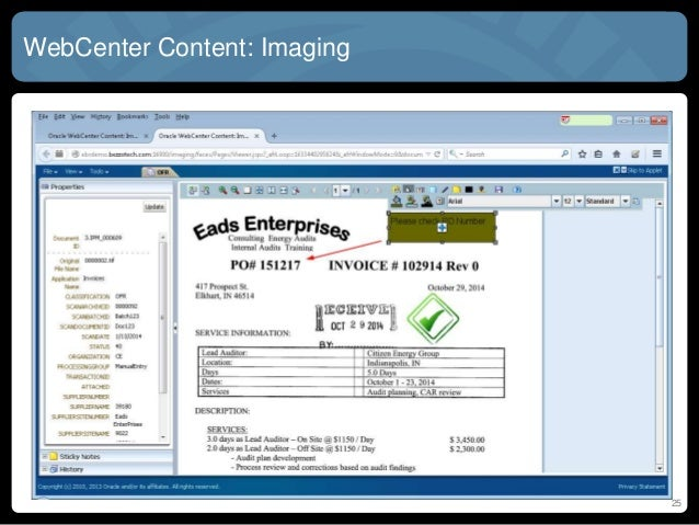 AP Automation For EBS Or PeopleSoft With Oracle WebCenter - Invoice imaging software