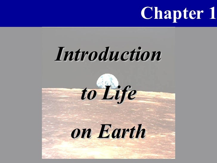 Introduction to Life on Earth