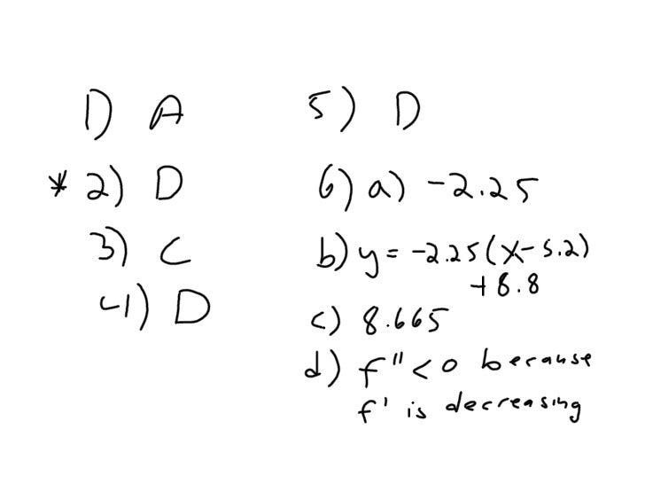 Ap Calc Oct 20