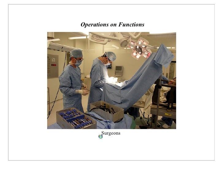 Operations on Functions            Surgeons
