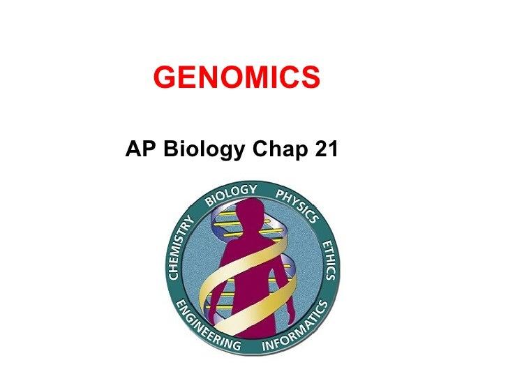 GENOMICS AP Biology Chap 21
