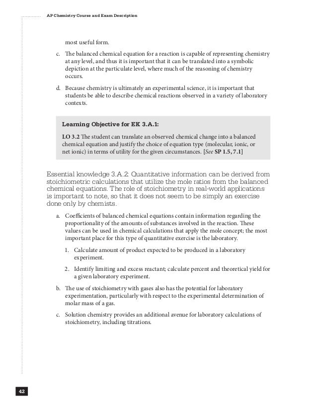 chemistry course description Chemistry 1210 general chemistry i syllabus course description chemistry 1210 is a four-credit course that consists of three lectures (section 001) per week.