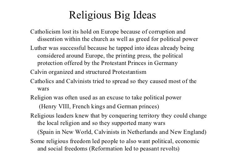 ap european history overview   11 religious big ideas